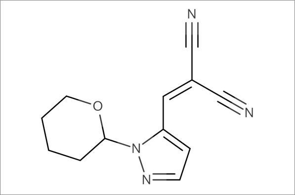 2-((1-(Tetrahydro-2H-pyran-2-yl)-1H-pyrazol-5-yl)methylene)malononitrile