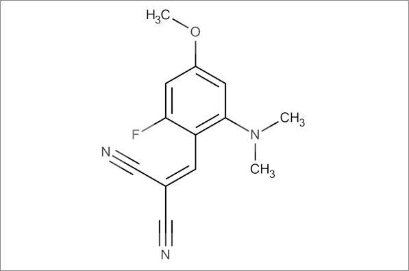 2-(2-(Dimethylamino)-6-fluoro-4-methoxybenzylidene)malononitrile