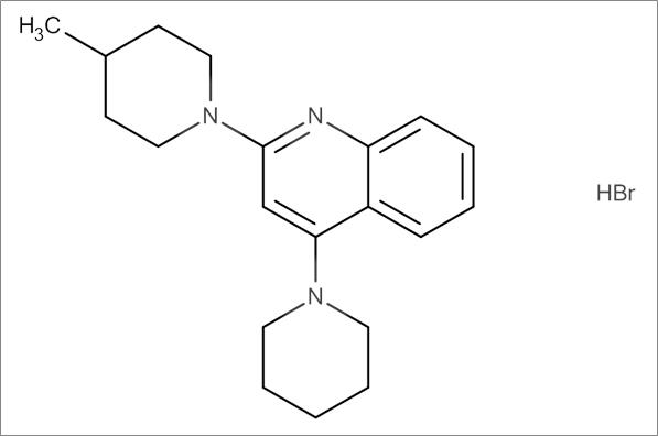 2-(4-Methylpiperidin-1-yl)-4-(piperidin-1-yl)quinoline hydrobromide