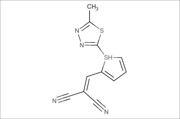 2-((5-((5-Methyl-1,3,4-thiadiazol-2-yl)thio)furan-2-yl)methylene)malononitrile