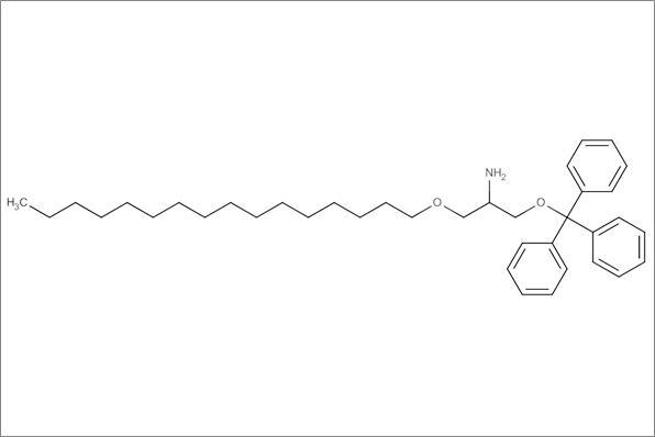 (+/-)-2-Amino-2-desoxy-3-O-hexadecyl-1-O-(triphenylmethyl)glycerol, min