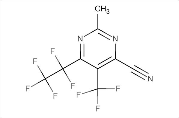 2-Methyl-6-pentafluoroethyl-5-trifluoromethylpyrimidine-4-carbonitrile