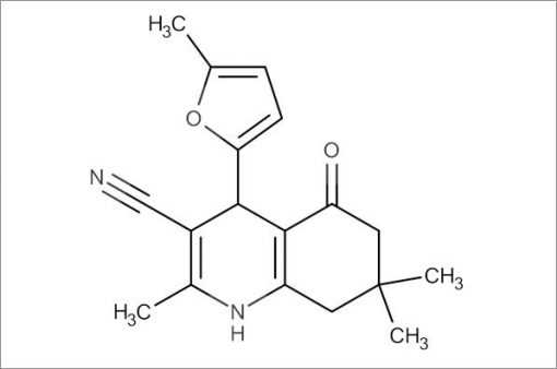 2,7,7-Trimethyl-4-(5-methylfuran-2-yl)-5-oxo-1,4,5,6,7,8-hexahydroquinoline-3-carbonitrile