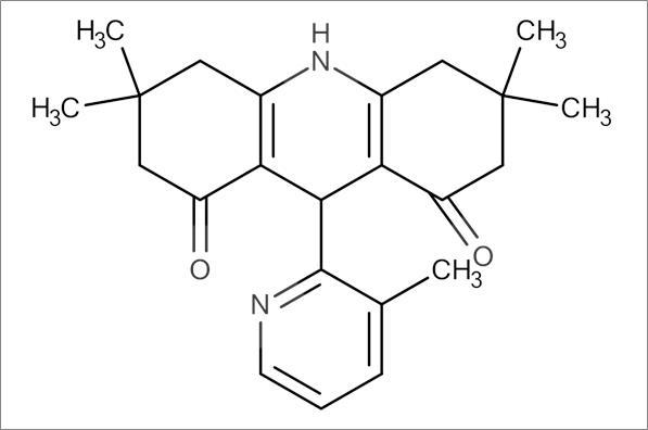 3,3,6,6-Tetramethyl-9-(3-methylpyridin-2-yl)-3,4,6,7,9,10-hexahydroacridine-1,8(2H,5H)-dione