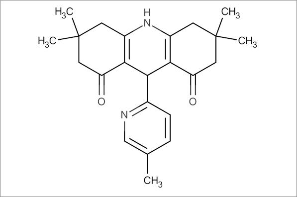3,3,6,6-Tetramethyl-9-(5-methylpyridin-2-yl)-3,4,6,7,9,10-hexahydroacridine-1,8(2H,5H)-dione