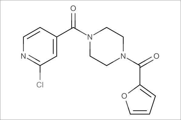 (4-(2-Chloroisonicotinoyl)piperazin-1-yl)(furan-2-yl)methanone