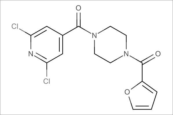 (4-(2,6-Dichloroisonicotinoyl)piperazin-1-yl)(furan-2-yl)methanone