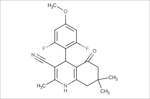 4-(2,6-Difluoro-4-methoxyphenyl)-2,7,7-trimethyl-5-oxo-1,4,5,6,7,8-hexahydroquinoline-3-carbonitrile