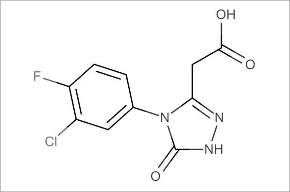[4-(3-Chloro-4-fluorophenyl)-5-oxo-4,5-dihydro-1H-1,2,4-triazol-3-yl]acetic acid