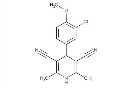 4-(3-Chloro-4-methoxyphenyl)-2,6-dimethyl-1,4-dihydropyridine-3,5-dicarbonitrile