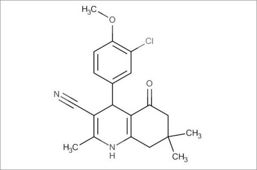 4-(3-Chloro-4-methoxyphenyl)-2,7,7-trimethyl-5-oxo-1,4,5,6,7,8-hexahydroquinoline-3-carbonitrile