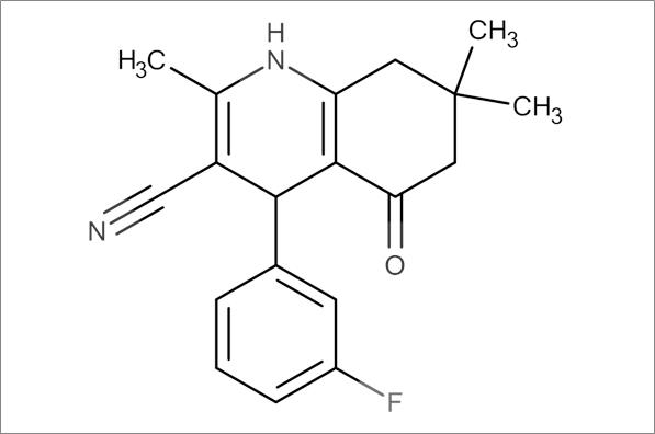 4-(3-Fluorophenyl)-2,7,7-trimethyl-5-oxo-1,4,5,6,7,8-hexahydroquinoline-3-carbonitrile