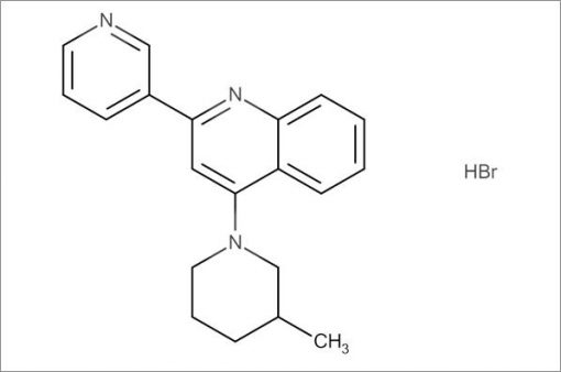 4-(3-Methylpiperidin-1-yl)-2-(pyridin-3-yl)quinoline hydrobromide