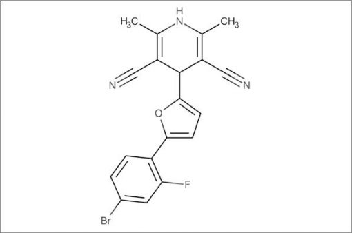 4-(5-(4-Bromo-2-fluorophenyl)furan-2-yl)-2,6-dimethyl-1,4-dihydropyridine-3,5-dicarbonitrile