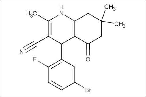 4-(5-Bromo-2-fluorophenyl)-2,7,7-trimethyl-5-oxo-1,4,5,6,7,8-hexahydroquinoline-3-carbonitrile