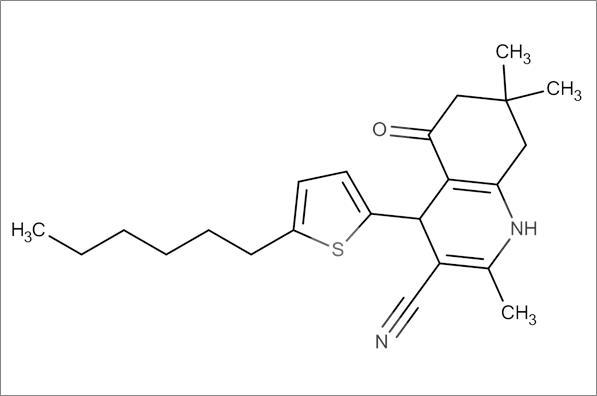 4-(5-Hexylthiophen-2-yl)-2,7,7-trimethyl-5-oxo-1,4,5,6,7,8-hexahydroquinoline-3-carbonitrile