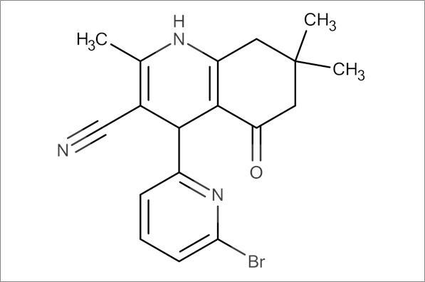 4-(6-Bromopyridin-2-yl)-2,7,7-trimethyl-5-oxo-1,4,5,6,7,8-hexahydroquinoline-3-carbonitrile