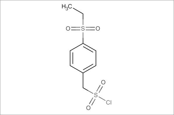 (4-Ethylsulfonylphenyl)methanesulfonyl chloride