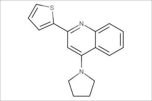 4-(Pyrrolidin-1-yl)-2-(thiophen-2-yl)quinoline