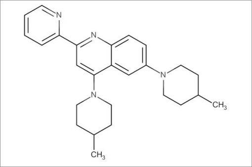 4,6-Bis(4-methylpiperidin-1-yl)-2-(pyridin-2-yl)quinoline