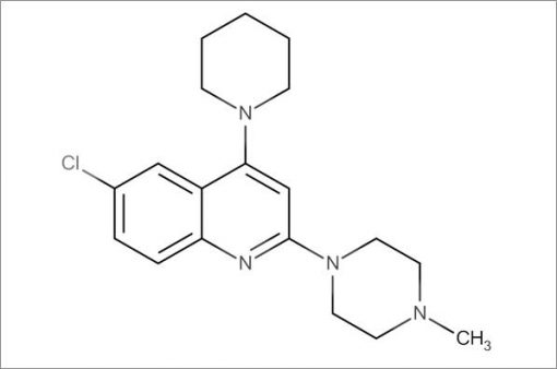 6-Chloro-2-(4-methylpiperazin-1-yl)-4-(piperidin-1-yl)quinoline