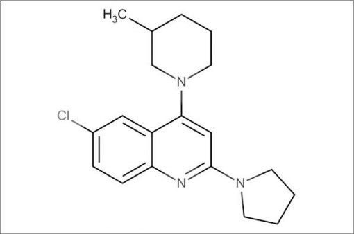 6-Chloro-4-(3-methylpiperidin-1-yl)-2-(pyrrolidin-1-yl)quinoline
