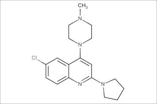 6-Chloro-4-(4-methylpiperazin-1-yl)-2-(pyrrolidin-1-yl)quinoline