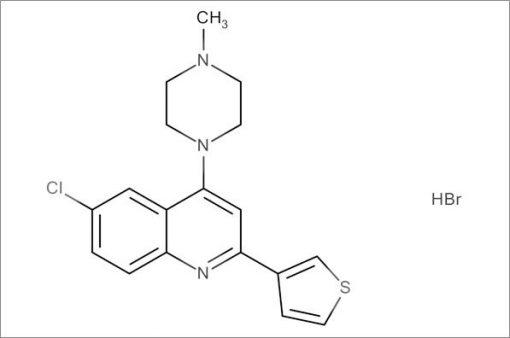 6-Chloro-4-(4-methylpiperazin-1-yl)-2-(thiophen-3-yl)quinoline hydrobromide