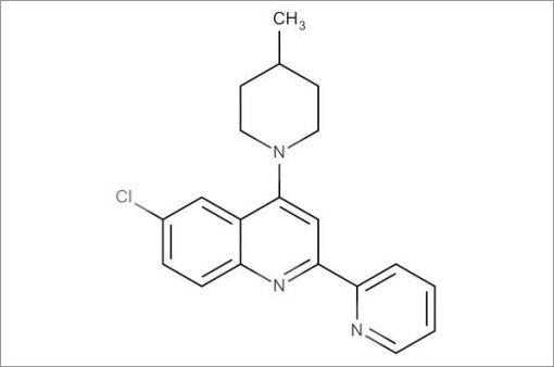 6-Chloro-4-(4-methylpiperidin-1-yl)-2-(pyridin-2-yl)quinoline