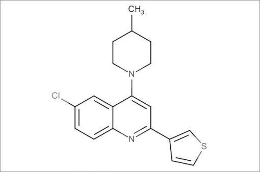 6-Chloro-4-(4-methylpiperidin-1-yl)-2-(thiophen-3-yl)quinoline