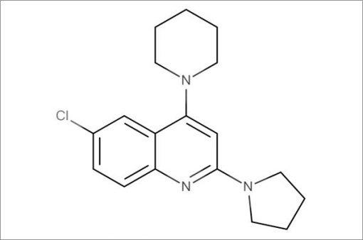 6-Chloro-4-(piperidin-1-yl)-2-(pyrrolidin-1-yl)quinoline