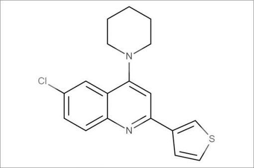 6-Chloro-4-(piperidin-1-yl)-2-(thiophen-3-yl)quinoline