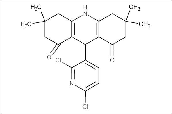 9-(2,6-Dichloropyridin-3-yl)-3,3,6,6-tetramethyl-3,4,6,7,9,10-hexahydroacridine-1,8(2H,5H)-dione
