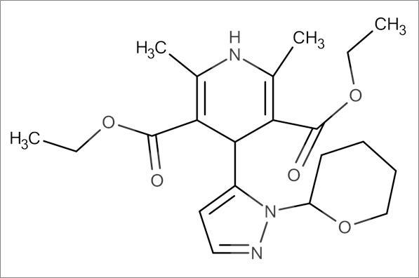 Diethyl 2,6-dimethyl-4-(1-(tetrahydro-2H-pyran-2-yl)-1H-pyrazol-5-yl)-1,4-dihydropyridine-3,5-dicarboxylate