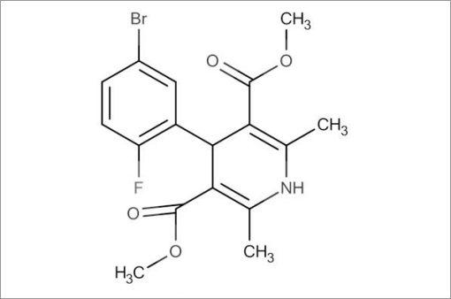 Dimethyl 4-(5-bromo-2-fluorophenyl)-2,6-dimethyl-1,4-dihydropyridine-3,5-dicarboxylate