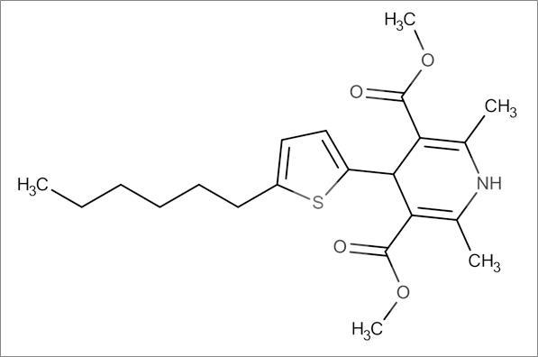 Dimethyl 4-(5-hexylthiophen-2-yl)-2,6-dimethyl-1,4-dihydropyridine-3,5-dicarboxylate