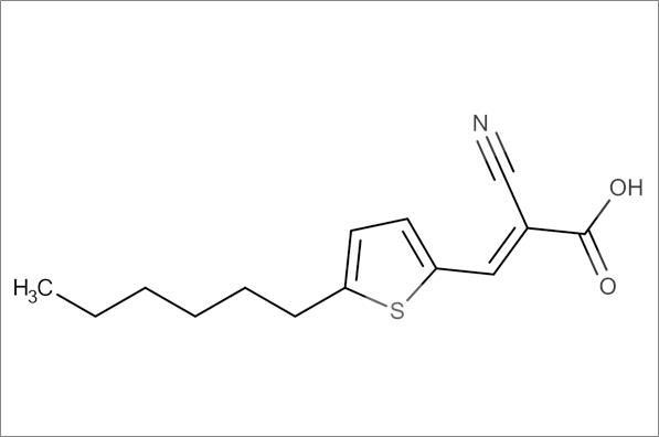 (E)-2-Cyano-3-(5-hexylthiophen-2-yl)acrylic acid