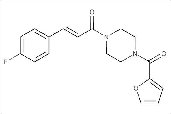 (E)-3-(4-Fluorophenyl)-1-(4-(furan-2-carbonyl)piperazin-1-yl)prop-2-en-1-one