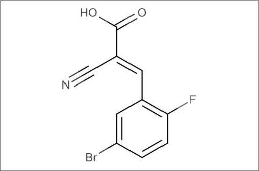 (E)-3-(5-Bromo-2-fluorophenyl)-2-cyanoacrylic acid