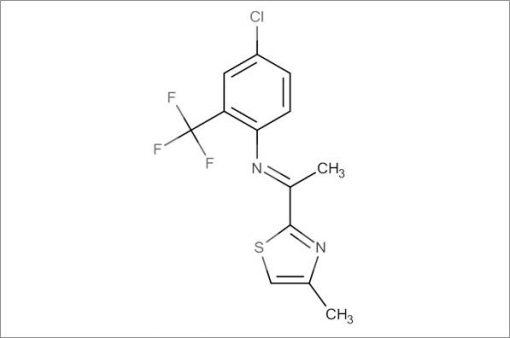 (E)-4-Chloro-N-(1-(4-methylthiazol-2-yl)ethylidene)-2-(trifluoromethyl)aniline