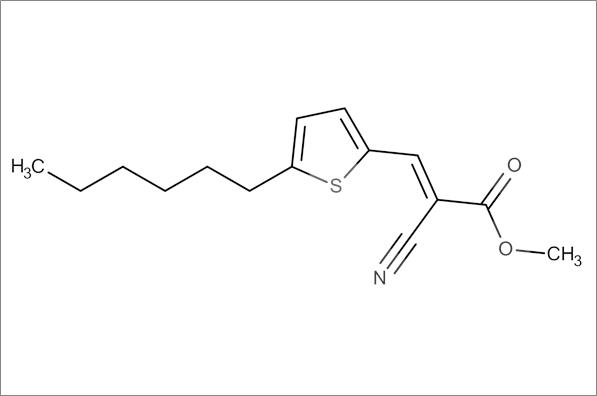 (E)-Methyl 2-cyano-3-(5-hexylthiophen-2-yl)acrylate