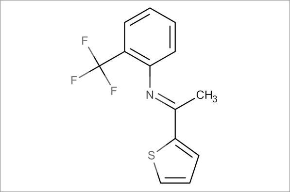 (E)-N-(1-(Thiophen-2-yl)ethylidene)-2-(trifluoromethyl)aniline