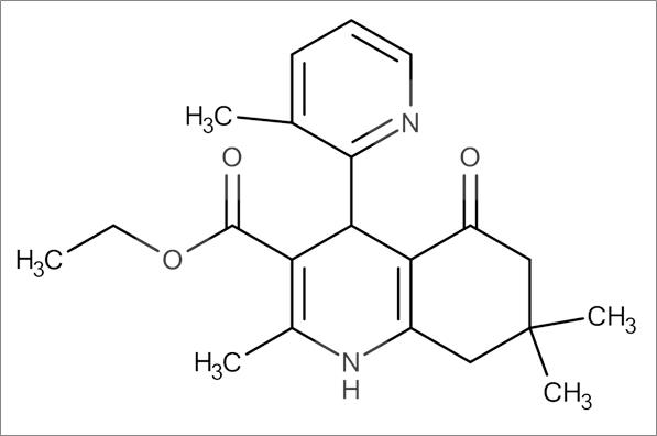 Ethyl 2,7,7-trimethyl-4-(3-methylpyridin-2-yl)-5-oxo-1,4,5,6,7,8-hexahydroquinoline-3-carboxylate
