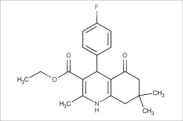Ethyl 4-(4-fluorophenyl)-2,7,7-trimethyl-5-oxo-1,4,5,6,7,8-hexahydroquinoline-3-carboxylate