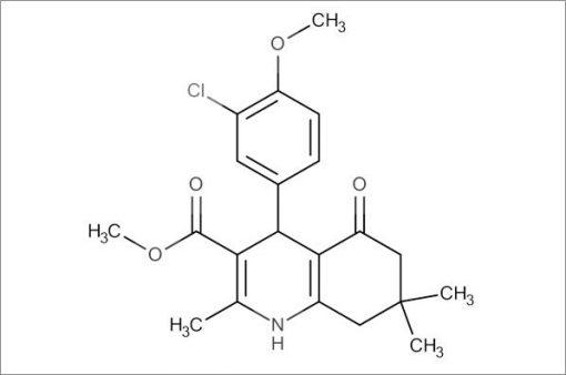 Methyl 4-(3-chloro-4-methoxyphenyl)-2,7,7-trimethyl-5-oxo-1,4,5,6,7,8-hexahydroquinoline-3-carboxylate