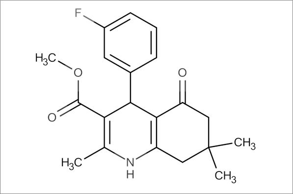 Methyl 4-(3-fluorophenyl)-2,7,7-trimethyl-5-oxo-1,4,5,6,7,8-hexahydroquinoline-3-carboxylate