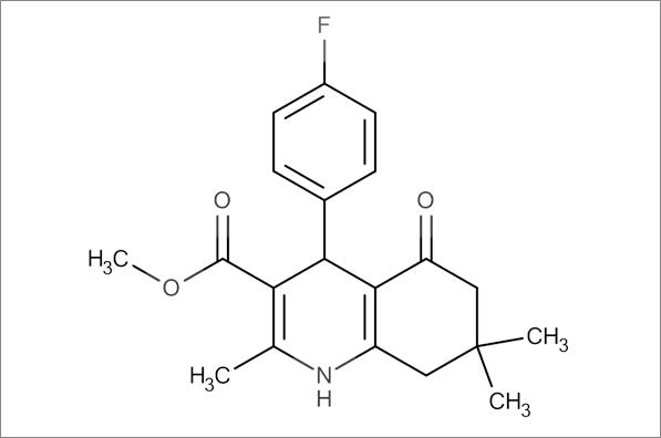 Methyl 4-(4-fluorophenyl)-2,7,7-trimethyl-5-oxo-1,4,5,6,7,8-hexahydroquinoline-3-carboxylate