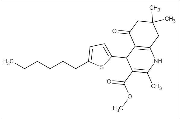 Methyl 4-(5-hexylthiophen-2-yl)-2,7,7-trimethyl-5-oxo-1,4,5,6,7,8-hexahydroquinoline-3-carboxylate