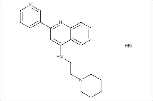N-(2-(Piperidin-1-yl)ethyl)-2-(pyridin-3-yl)quinolin-4-amine hydrobromide