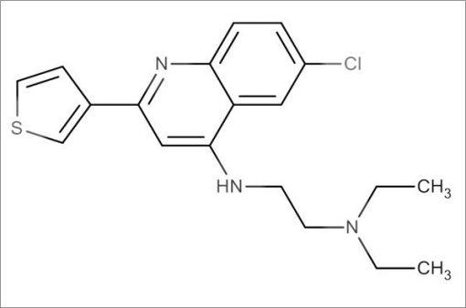 N'-(6-Chloro-2-(thiophen-3-yl)quinolin-4-yl)-N,N-diethylethane-1,2-diamine